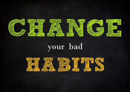 habituation: change your bad habits - chalkboard design