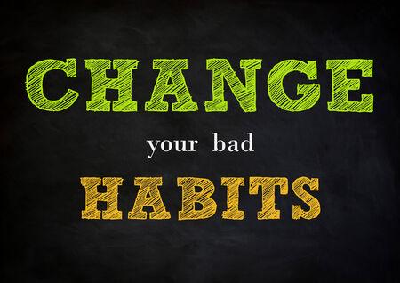 habituation: change your bad habits - chalkboard design