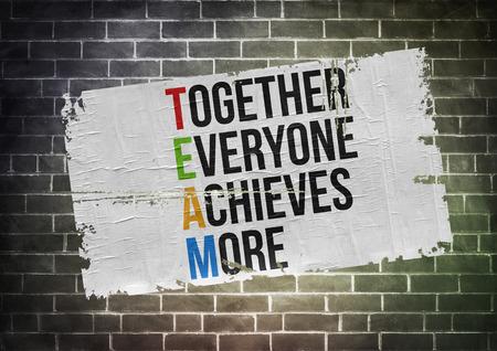 puesto de trabajo: Todos Juntos Logramos M�s - concepto del cartel Foto de archivo