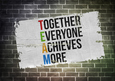 Together Everyone Achieves More - poster concept Reklamní fotografie - 31393438