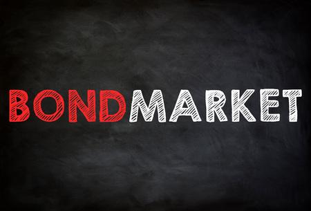 BOND MARKET - chalkboard concept