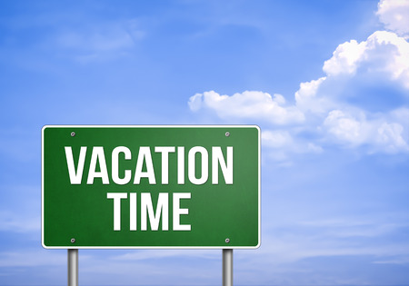 relaxion: VACATION TIME - road sign concept