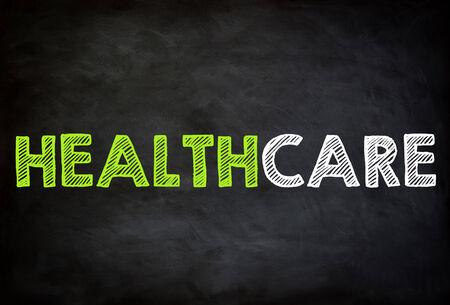 HEALTH CARE - chalkboard concept photo