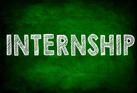 internship: INTERNSHIP - chalkboard concept
