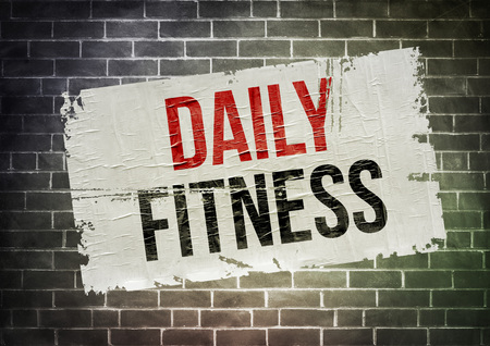Daily fitness concept posters 免版税图像 - 36025751