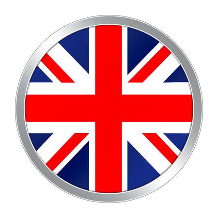 england flag: Flag button of United Kingdom Stock Photo