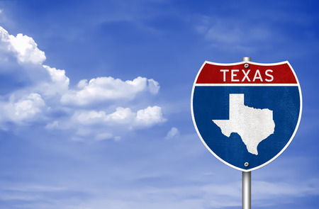 texas state flag: Texas road sign concept