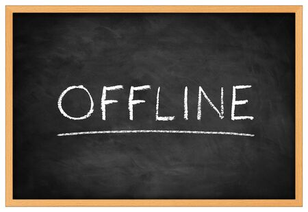 disconnection: Offline blackboard background concept