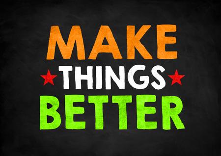 better: make things better Stock Photo