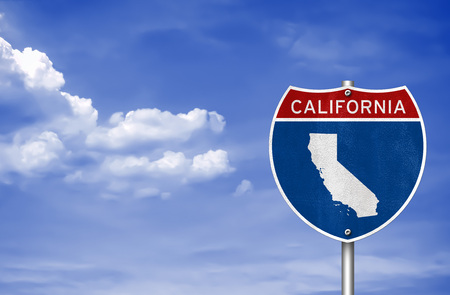 California road sign concept