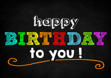 birthday greetings: Feliz cumplea�os Foto de archivo