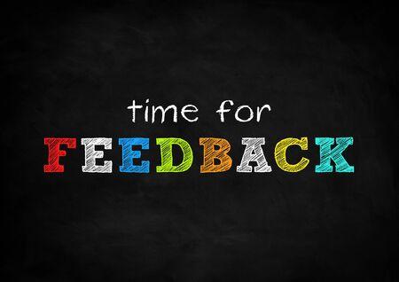 Time for feedback blackboard concept 免版税图像 - 40870269