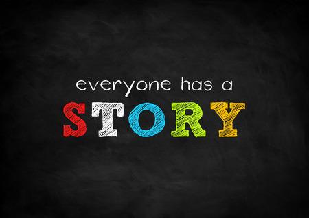 iedereen heeft een verhaal Stockfoto