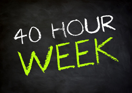 working hour: working time 40 hour week Stock Photo