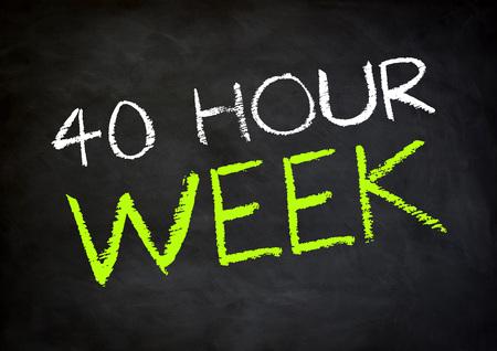 working week: working time 40 hour week Stock Photo