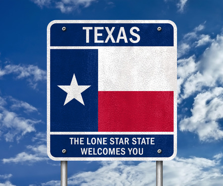 Texas - the lone star state welcomes you 免版税图像 - 42409412