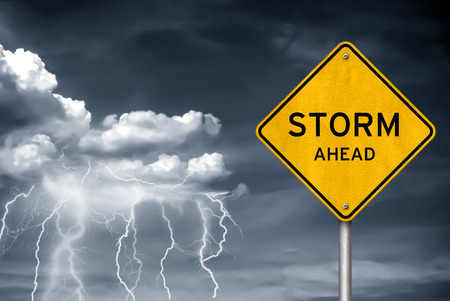 hurricane weather: Storm Ahead - Thunderstorm lightning warning