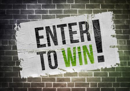 Enter om te winnen - poster-concept