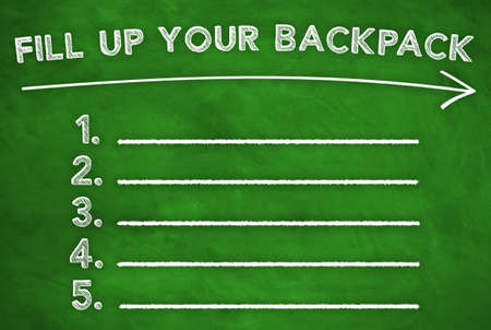 to fill up: Fill up your Backpack