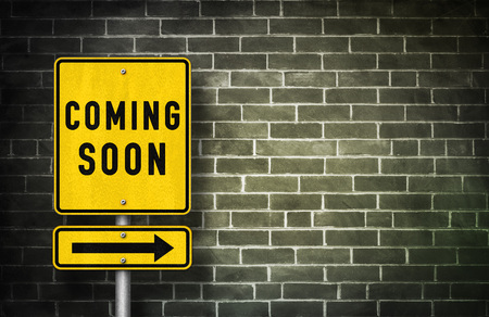 Coming Soon - road sign illustration 免版税图像 - 49966182