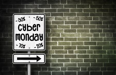 abatement: Cyber Monday - road sign illustration