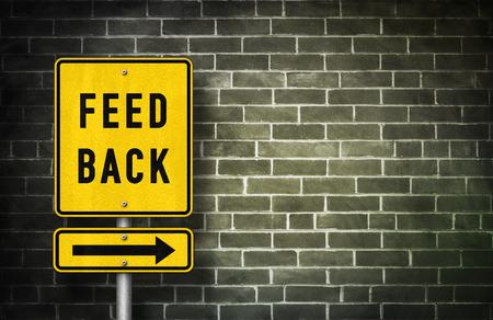 feed back: Feedback - road sign illustration