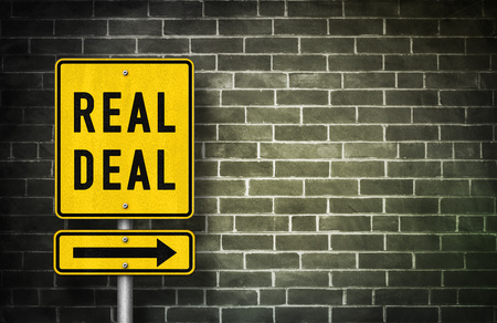 accord: Real Deal - road sign illustration Stock Photo