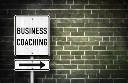 elites: Business Coaching - road sign illustration