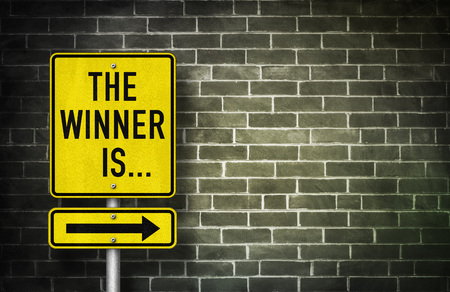The Winner is - road sign illustration