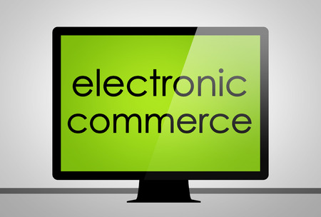 electronic commerce: electronic commerce - computer concept