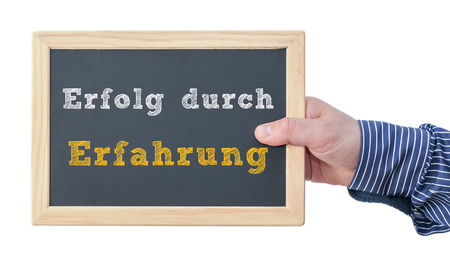 reliably: Erfolg durch Erfahrung Stock Photo
