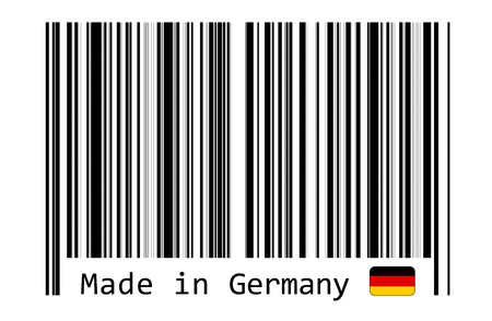 bar code reader: Made in Germany with barcode label