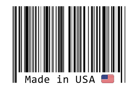 bar code reader: Made in USA with barcode label