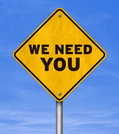 we need you - road sign concept Imagens - 61842938
