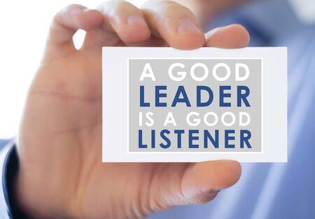 listener: good Leader and good Listener