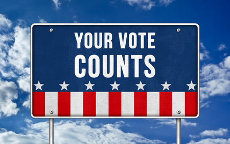 election choices: your vote counts Stock Photo