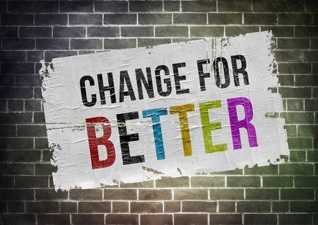 better: change for better - poster illustration