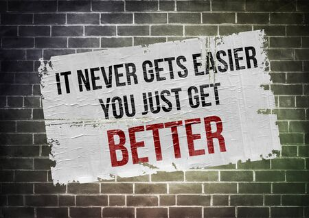better: get better - poster illustration
