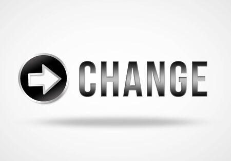 creer: creer en el cambio 3d concepto