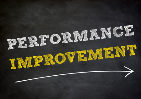 performance improvement: performance improvement - chalkboard background concept