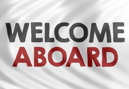 aboard: welcome aboard Stock Photo