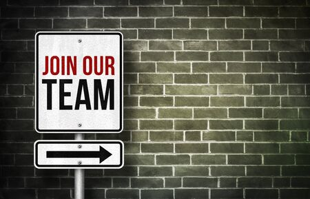 our: Join our team - road sign concept