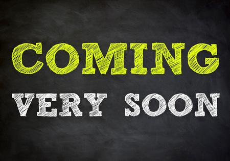 coming soon - release information chalkboard Reklamní fotografie