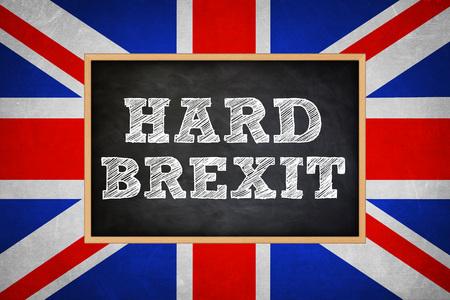 Hard Brexit Stock Photo