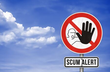Scum Alert - road sign warning