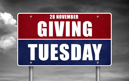 Giving Tuesday - road sign Stock Photo