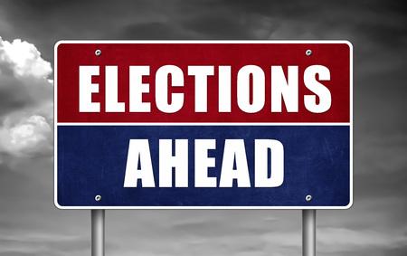 Verkiezing vooruit - verkeersteken