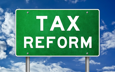 Tax reform - road sign