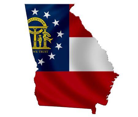 ジョージア州 - 地図アイコン 写真素材