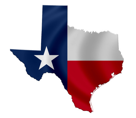 State of Texas - map icon Stock Photo